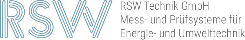 RSW Technik GmbH · Mess- und Prüfsysteme für Energie- und Umwelttechnik