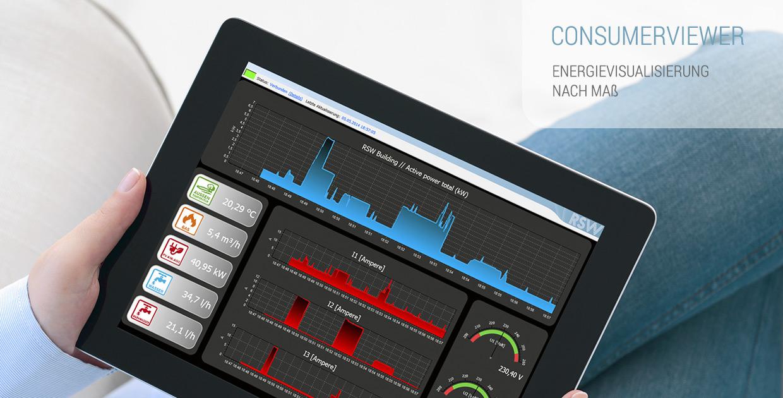 <p>ConsumerViewer – Energievisualisierung nach Maß mit RSW Technik.</p>